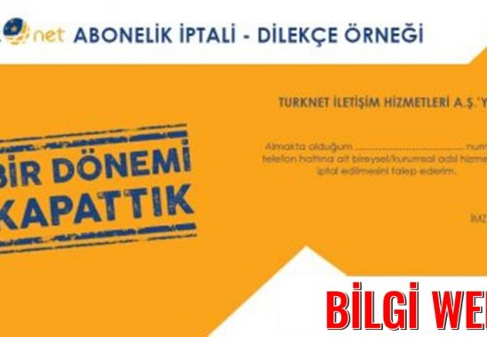 Turknet İptal Dilekçesi